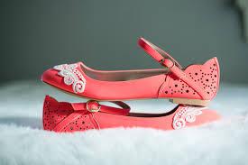 Wedding Shoes Size 9 Neon Coral Ballet Flats Wedding Flats Bridal Flats Lace Flats