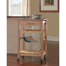 wood kitchen island cart 22 in w granite top kitchen island cart 44037nat 01 kd u the