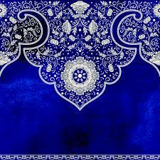 blue decorative ornaments russian style vector 05 vector
