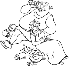 coloring pictures shrek