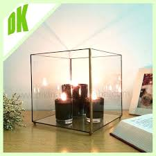large glass candle holders hurricane