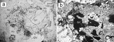 growth of zircon and titanite during metamorphism in the granitoid