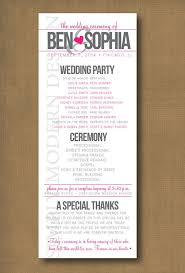 printed wedding programs printed wedding program paso evolist co