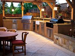 enchanting backyard kitchen design beige grill island gas built in