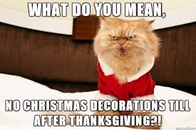 no decorations before thanksgiving imgur
