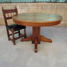 glamorous antique round oak pedestal dining table elegant voorhees