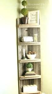 How To Build A Corner Bookcase Corner Ladder Shelf Corner Shelf Pair Black Three Tier