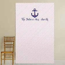 wedding backdrop personalized personalized photo booth backdrop nautical bridal collection