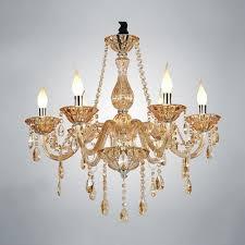 Colored Chandelier Six Light Chic And Warm 24 4 High Chagne Colored All