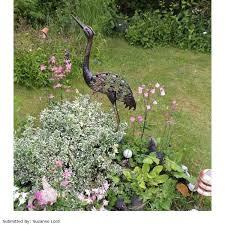 la hacienda metal heron garden ornament on sale fast delivery