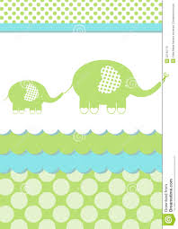 baby shower elephant invitation card stock photo image 25745710