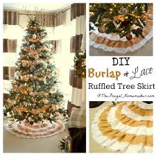 burlap tree skirt diy burlap lace christmas tree skirt