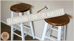 diy home decor rustic bar stools youtube