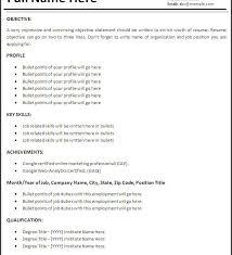 Basic Sample Of Resume How To Make A Basic Resume Haadyaooverbayresort Com