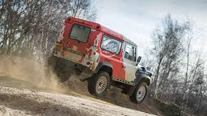 land rover racing first drive land rover defender 2 4 diesel 2dr top gear