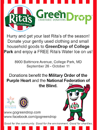 National Federation Of Blind Giving Back One Rita U0027s Water Ice At A Time Gogreendrop Blog