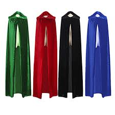 Blue Black Halloween Costumes Aliexpress Buy Witch Long Halloween Cloaks Black Red