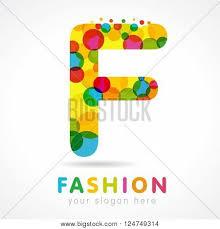 letter f colorful bubble logo icon vector u0026 photo bigstock