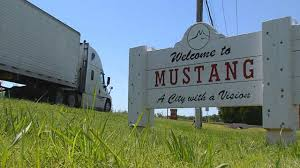 weather in mustang oklahoma city of mustang no truck signs removed in okc news9 com
