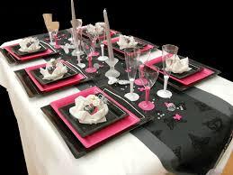 decoration mariage noir et blanc thème papillon blanc noir fushia loé déco