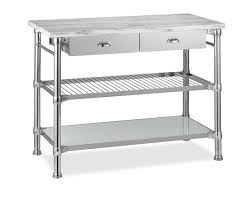 chrome kitchen island magnetic kitchen island cart marble top with polished chrome cup