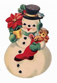 9 best images of snowman vintage christmas printables free