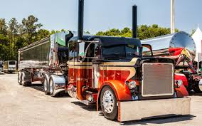 semi trailer truck custom big trucks peterbilt tractor trailer semi big rig custom