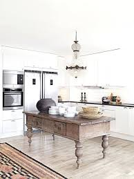 kitchen island or table antique kitchen island table a mix of new and vintage kitchen in