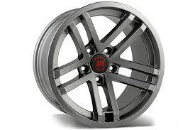 rugged ridge jesse spade wheels black machined or gun metal
