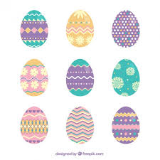 easter egg ornaments easter eggs with abstract ornaments vector premium