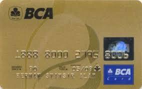 bca gold card bank card bca bank central asia indonesia col id un 0056