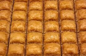 traditional turkish baklava sweet dessert made of thin pastry