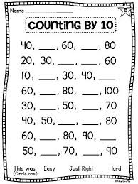 counting by 10s worksheet kindergarten worksheets