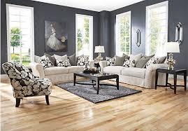 Rooms To Go Living Room Set Cindy Crawford Grandview Loft Linen 7pc Classic Living Room
