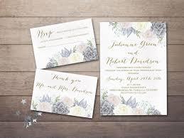 succulent wedding invitations floral wedding invitation printable succulent wedding invitation