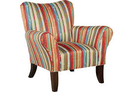 Accent Chairs Painterly Stripe Accent Chair Accent Chairs