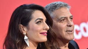 is amal clooney hair one length how george amal clooney their twins brightened a holiday