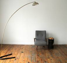 lighting ideas white mid century modern arc floor lamps over gray