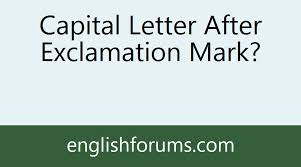 capital letter after exclamation mark