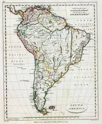 A Map Of South America by The British Empire And South America Maps