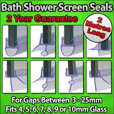 long 2000mm 2m bath shower screen rubber pvc plastic door shop categories shop home shower screen seals