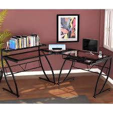 amazon com z line belaire glass l shaped computer desk kitchen