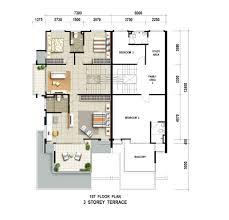 carissa villas 3 storey gated terrace site u0026 floor plan