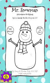 mr snowman awesome articulation worksheets 720 words homework