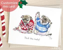 pug pug cards cards pins and magnets by inkpug on etsy