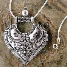 necklace silver india images Sterling silver necklace indian ethnic jewelry mighty heart novica jpg