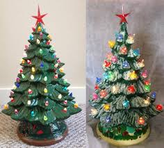 christmas mr christmas ceramic tree with lights to paint parts