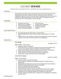 Sample Resume For Fmcg Sales Officer by Sales Manager Cv Example For Sales Livecareer
