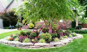 Small Garden Rockery Ideas Rock Garden In Front Of House Attractive Small Ideas Outstanding