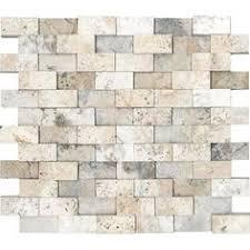 Multi Color Travertine Mix Subway Backsplash Tile Dark Medium - Travertine mosaic tile backsplash
